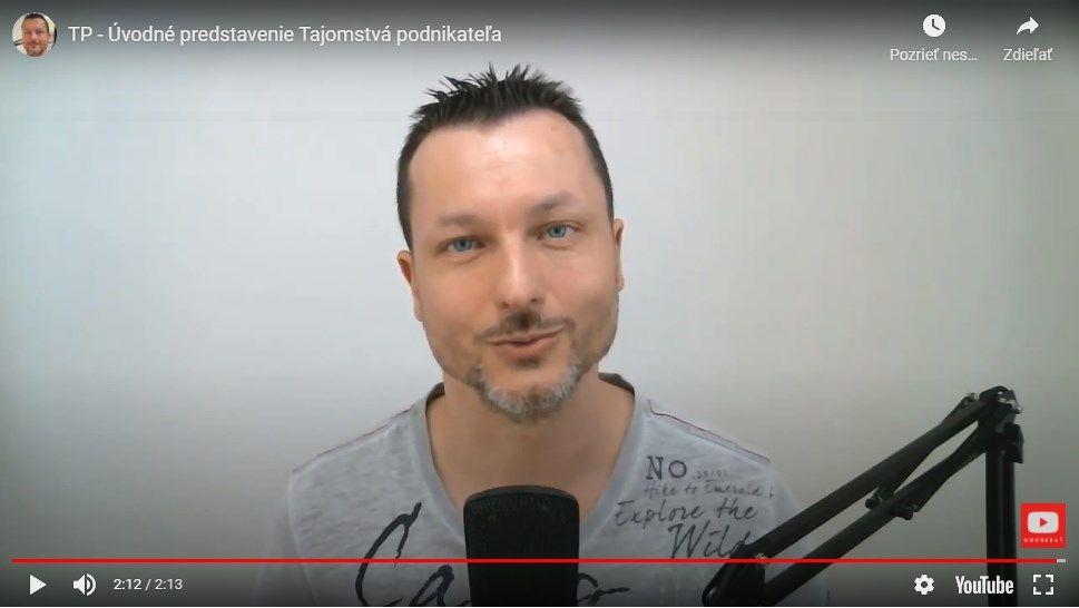 úvodne video tréningu Tajomstvá podnikateľa